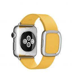 Apple Watch řemínek 38mm s moderní přezkou měsíčkově žlutý velký