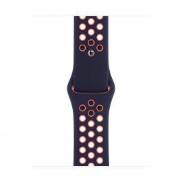 Apple 40mm modročerný / jasně mangový sportovní řemínek Nike- standardní