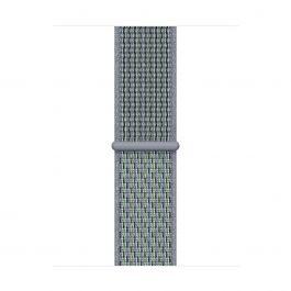 Sportovní řemínek Nike pro Apple Watch 40mm provlékací - mlhavě obsidiánový