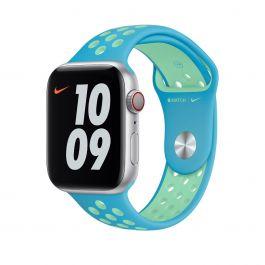 Apple Watch 40mm Nike sportovní řemínek - Chlorine Blue / Green Glow