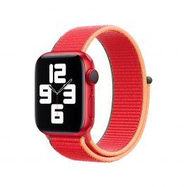 Apple 44mm provlékací sportovní řemínek - (PRODUCT)RED