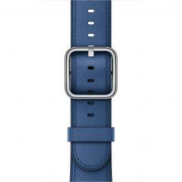 Apple Watch řemínek 38mm kožený s klasickou přezkou safírový
