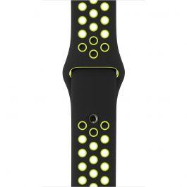 Apple Watch řemínek 38mm sportovní NIKE černý/Volt