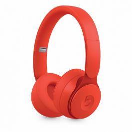 Bezdrátová sluchátka s potlačováním hluku Beats Solo Pro – More Matte Collection – červená