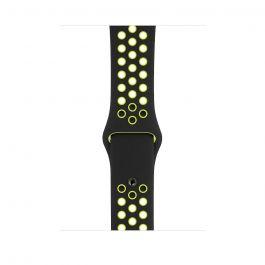 Apple Watch řemínek 44mm sportovní Nike černý/Volt