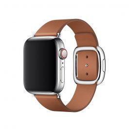Řemínek s moderní přezkou pro Apple Watch 40mm - sedlově hnědý - L