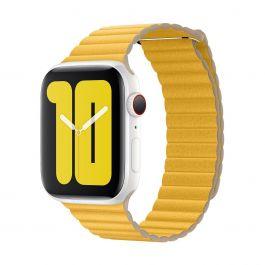 Apple Watch 44mm Band:  Meyer Lemon Leather Loop - Large