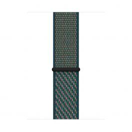 Apple Watch sportovní řemínek Nike 44mm - Hyper Crimson / Neptune Green