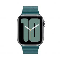 Apple Watch kožený řemínek 44mm - ledňáčkově tyrkysová - velký