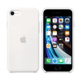 Apple silikonový kryt na iPhone SE (2. gen) - bílý
