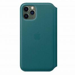 Apple kožené pouzdro Folio na iPhone 11 Pro - ledňáčkově tyrkysová