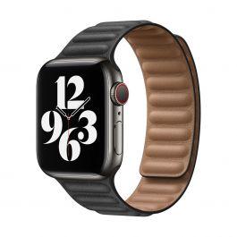 Apple 40mm černý kožený tah- M/L