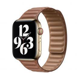 Apple 44mm sedlově hnědý kožený tah – S/M