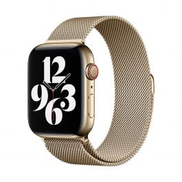 Apple 44mm zlatý milánský tah