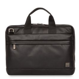 Kožená taška na MacBook Pro Knomo FOSTER - černá