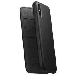 Nomad Folio Leather case, black - iPhone XS Max