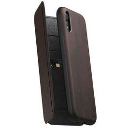 Obal na iPhone XR Nomad Folio Tri-Fold - hnědý