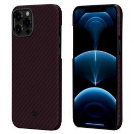 Kryt Pitaka MagEZ na iPhone 12 Pro Max -  černo/červený