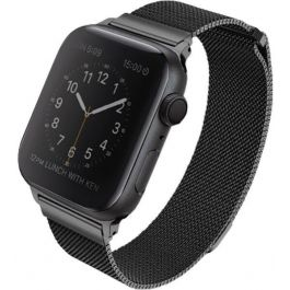 Řemínek na Apple Watch Series 4/5 40mm Uniq Dante Steel - černý