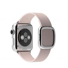 Apple 38mm bledě růžový řemínek s moderní přezkou – střední
