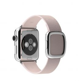 Apple 38mm bledě růžový řemínek s moderní přezkou – velký