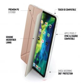 Pouzdro Pipetto na iPad Air 4 10.9 Metallic Origami - růžově zlaté