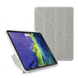 Pouzdro Pipetto na iPad Air 4 10.9 Metallic Origami - stříbrné