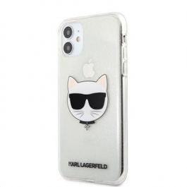 Kryt na iPhone 11 Karl Lagerfeld Choupette Head - stříbrný