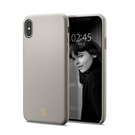 Kryt na iPhone Xs/X Spigen La Manon Câlin Case Beige