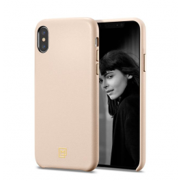 Kryt na iPhone Xs/X Spigen La Manon Câlin Case růžový