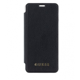 Guess PU Leather Book Case Iridescent Black pro iPhone XS Max