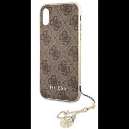 Obal na iPhone XR Guess Charms Hard Case 4G hnědý