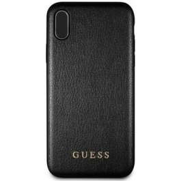 Guess PU Leather Hard Case Iridescent Black pro iPhone XS Max