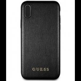 Guess PU Leather Hard Case Iridescent pro iPhone XS Max černý