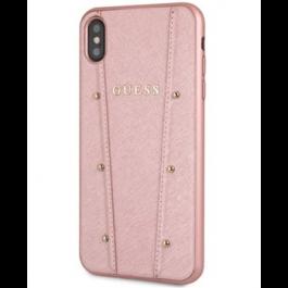 Obal na iPhone XS Max Guess Kaia tvrdý obal růžovo zlatý