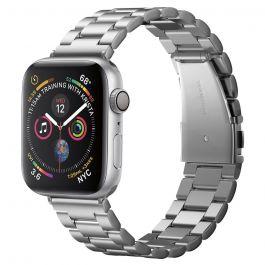 Kovový řemínek pro Apple Watch 44/42mm Spigen Modern Fit - stříbrný