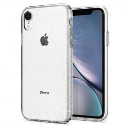 Kryt na iPhone XR Spigen Liquid Crystal Glitter - průhledný s třpytkami
