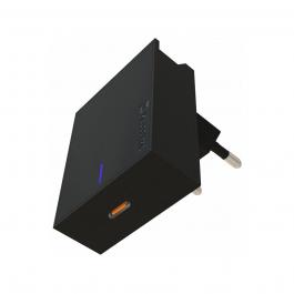Adaptér Swissten Slim 20W s podporou rychlonabíjení, USB-C - černý