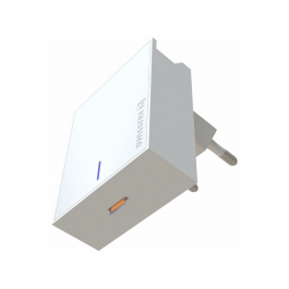 Adaptér Swissten Slim 20W s podporou rychlonabíjení, USB-C - bílý