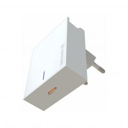 Adaptér Swissten Slim 18W s podporou rychlonabíjení, USB-C - bílý