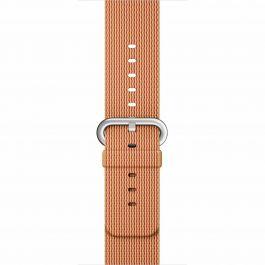 Apple Watch řemínek 42mm tkaný nylon zlato červený