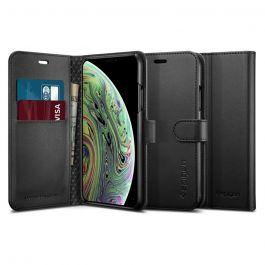 Obal na iPhone XS Max Spigen Wallet S - černý