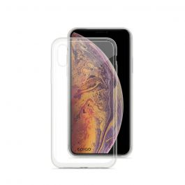 Plastic TPU case for iPhone XS Max EPICO TWIGGY GLOSS - white transparent