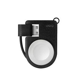 UNIQ COVE přenosná magnetická nabíječka na Apple Watch - černá