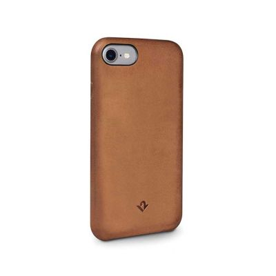 TwelveSouth Relaxed Leather Clip for iPhone 7 - Cognac
