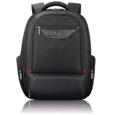 """Solo Executive Backpack - batoh pro 17.3"""" Macbook/laptop - černý/červený"""