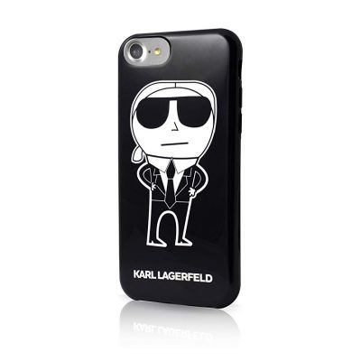 Kryt na iPhone 6/6s Karl Lagerfeld K-Team TPU - černý