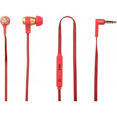 Sluchátka do uší Tribe Marvel Iron Man Swing - červená