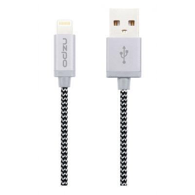 Odolný textilní kabel s Lightning konektorem - Odzu, zebra