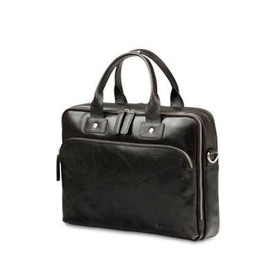 """dBramante 1928 kožená taška Kronborg 14"""" - černá"""